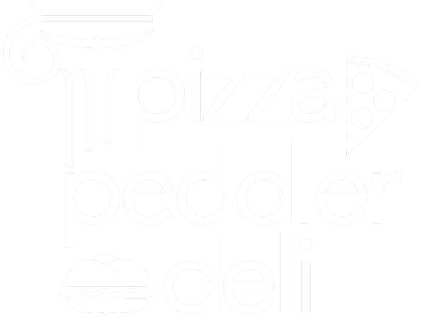 White Pizza Peddler Logo